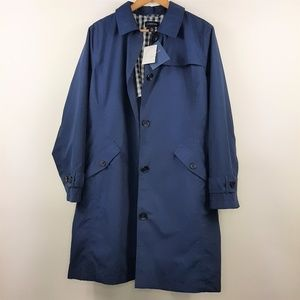 """Lands"""" End NEW Classic Trench Coat Navy Sz XL18-20"""